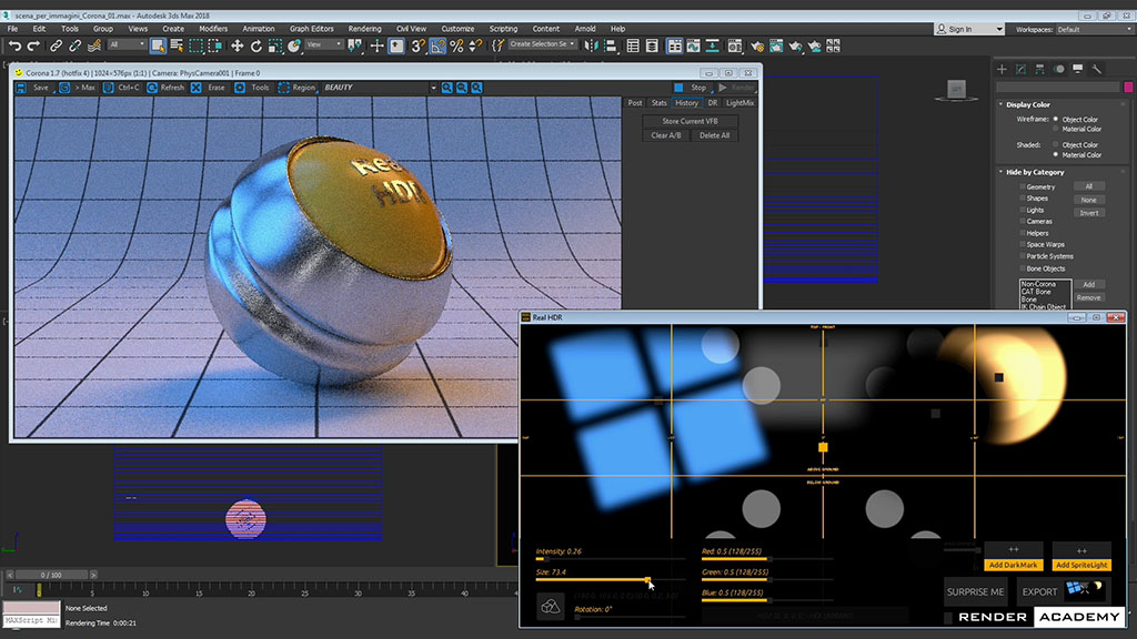 Image Based Lighting in Corona Renderer