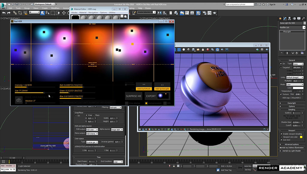 youtube V-Ray 3ds Max HDRI tutorial