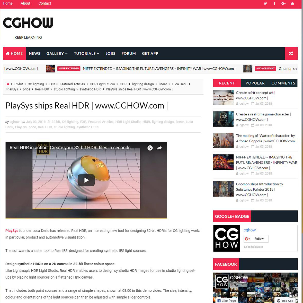 PlaySys ships Real HDR _ www CGHOW.com _ - CGHOW
