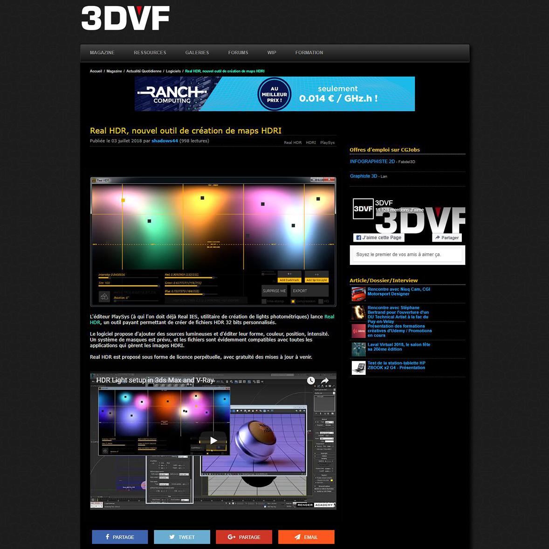 Real HDR, nouvel outil de création de maps HDRI - 3DVF com