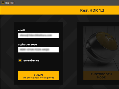 Real HDR License Login