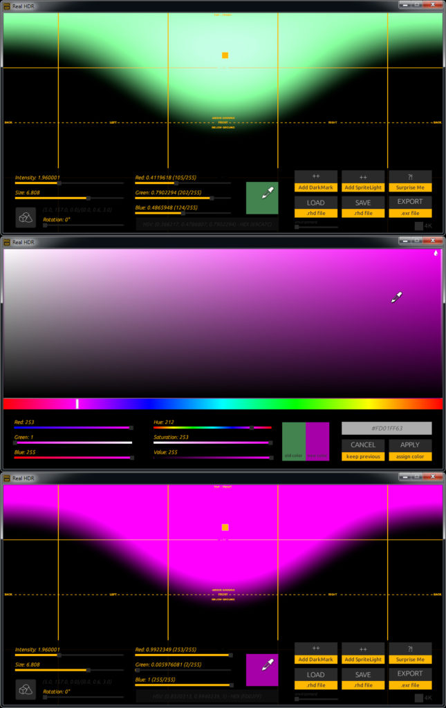 Color selector enhancements