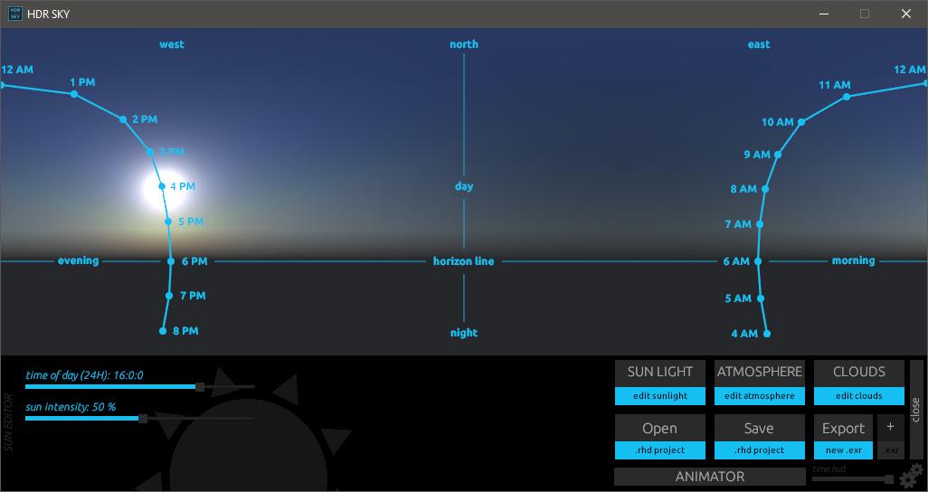 HDR Sky sun
